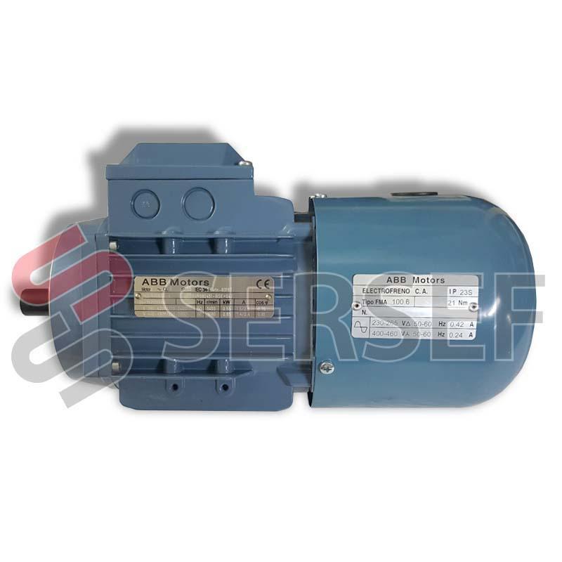 MOTOR AUTOFRENANTE M3VRS 80A4 KW=0.55   IMB34 V=400 FRENO V=380 C/A 3GVR082451-CSE+002