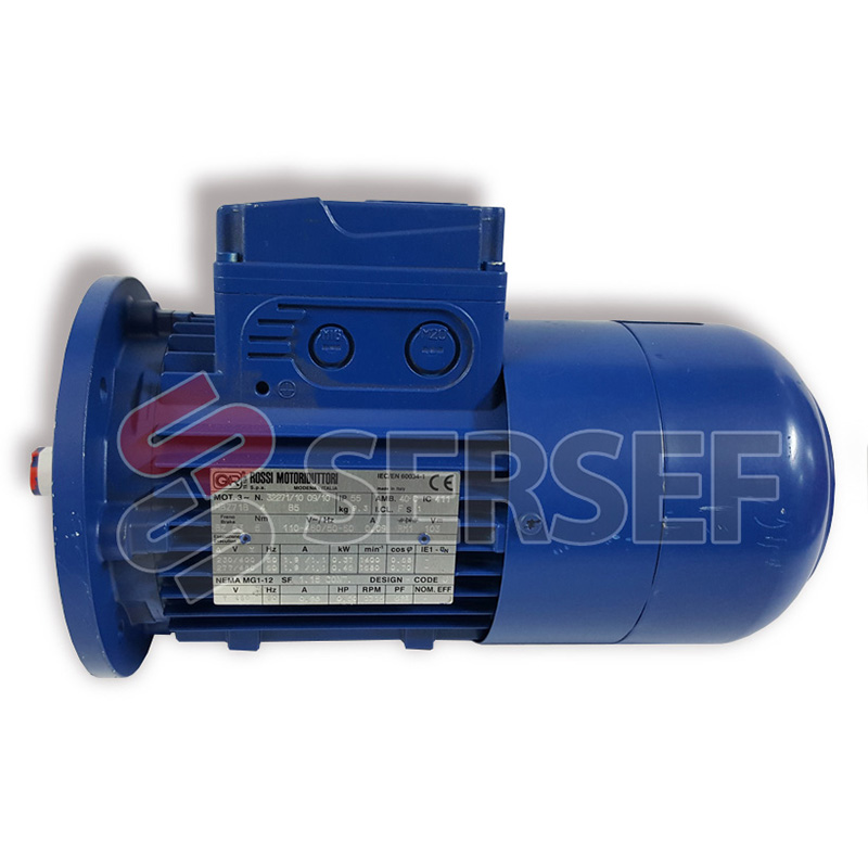 MOTOR AUTOFRENANTE HBZ 80C4P KW=1.1/1.3 B5 220/440 VOLTS 50/60 HZ MARCA ROSSI