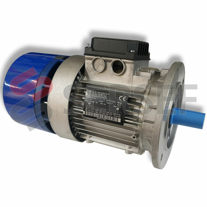MOTOR AUTOFRENANTE BA112MB4 B14 KW=4/4.8V=220/440 HZ=50/60 MARCA MGM