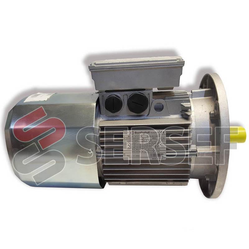 MOTOR AUTOFRENANTE BN100LA4 FA KW=2.2 IMB5 RPM=1410 FRENO=440/480 HZ=60 NM=40 MARCA