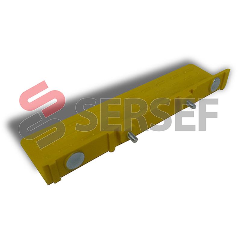 ALETA 50X20X200 DISTANCIA ENTRE EJES 64 MM. EN PVC PARA COMPENSADOR MARCA CIMES