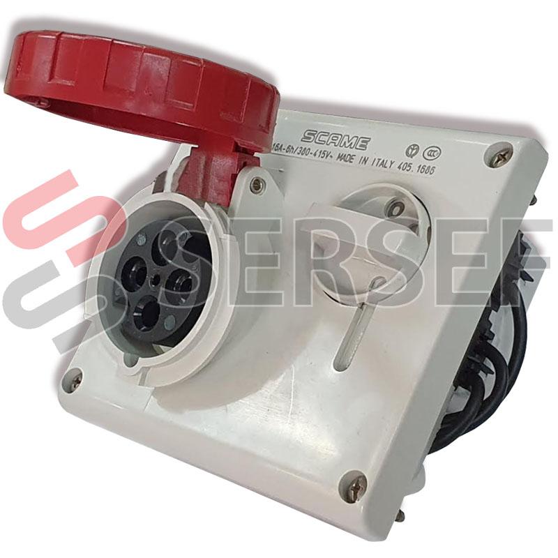 PRESSA INGRESO MODELO 405 1686 380/415 VOLTS 16 AMPS. COLOR ROJO MARCA SCAME