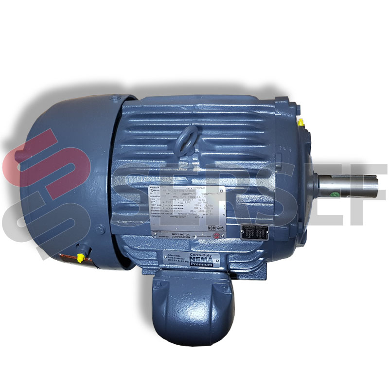 MOTOR ARMAZON 215T HP=10 RPM=1800 V=208-230/460 HZ=60 EF. PREMIUM TIPO CTE MARCA US