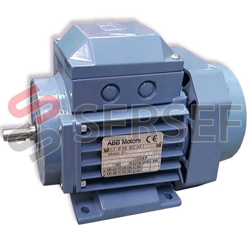 MOTOR M2VA 63B4 IMB3 KW=0.18/0.22 RPM=1380/1650 V=380/420/440/460 HZ=50/60 IE1 MARCA ABB