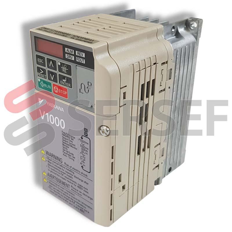 INVERTER CIMR-VC2A0004BAA (V1000) 200VAC TRIFASICO 0.75/0.55KW MARCA YASKAWA