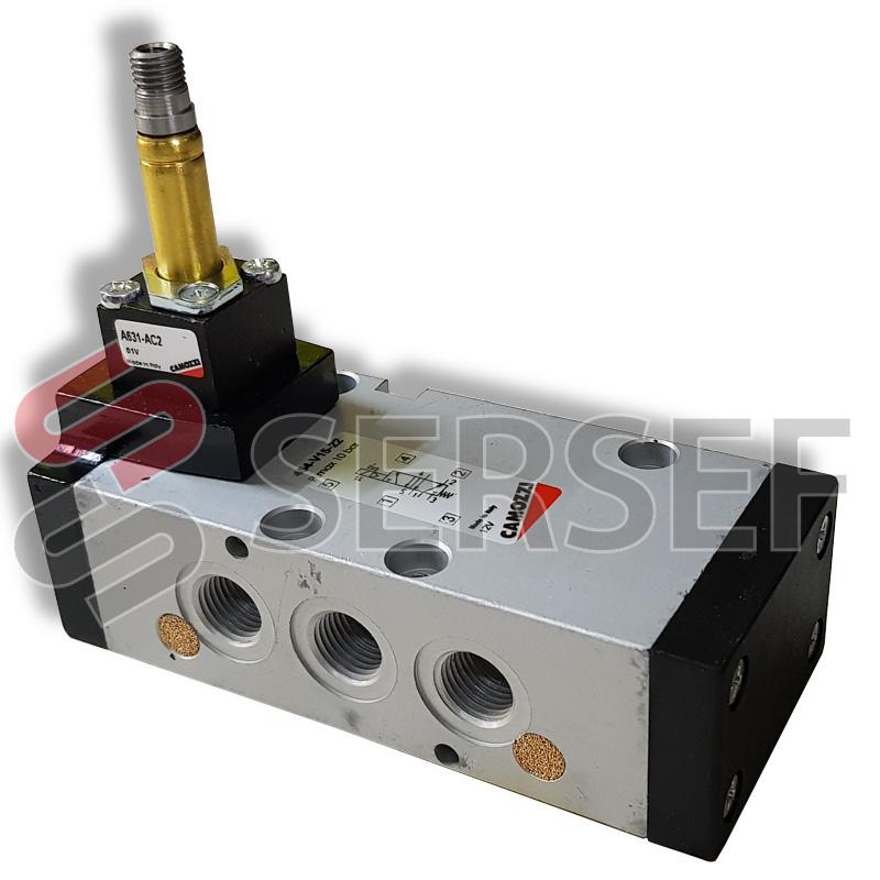 "ELECTROVALVULA MODELO 454-015-22 5V 1/4"" PMAX 10 BAR 5/2 MARCA CAMOZZI"