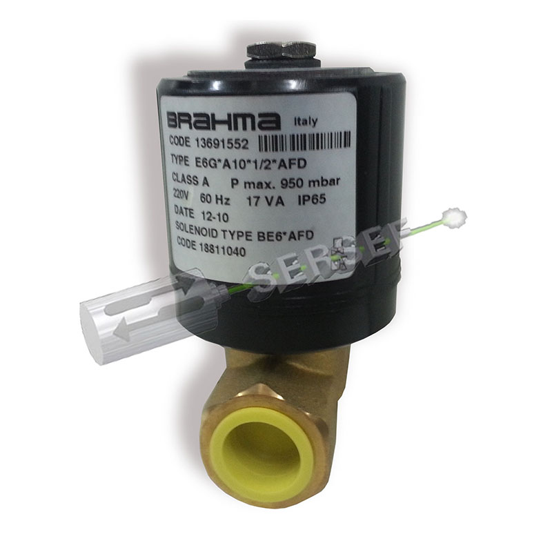ELECTROVALVULA EV.E6GA10 1/2 AFD CODIGO 13691552 230V. 60HZ MARCA BRAHMA