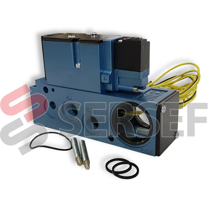 VALVULA 82A-AD-BKA-TU-DFF6-IDK 4 VIAS  2 POS. 24VDC 2.4W PLUG IN C/DIODO MARCA MAC
