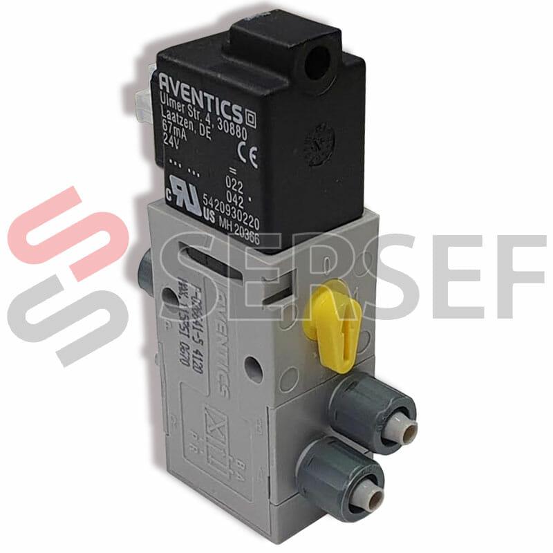 ELECTROVALVULA PNEUMATIK P-026641-5 24V MAX 115 PSI 0670 NP 5728409980 REXROTH AVENTICS