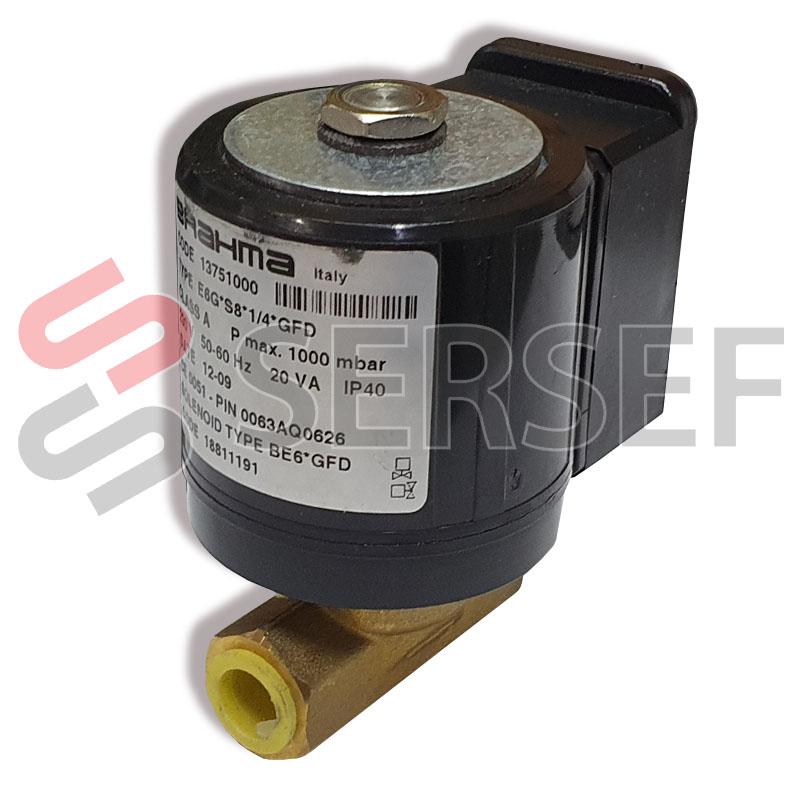 ELECTROVALVULA E6GS81/4GFD COD 13751000 MARCA BRAHMA