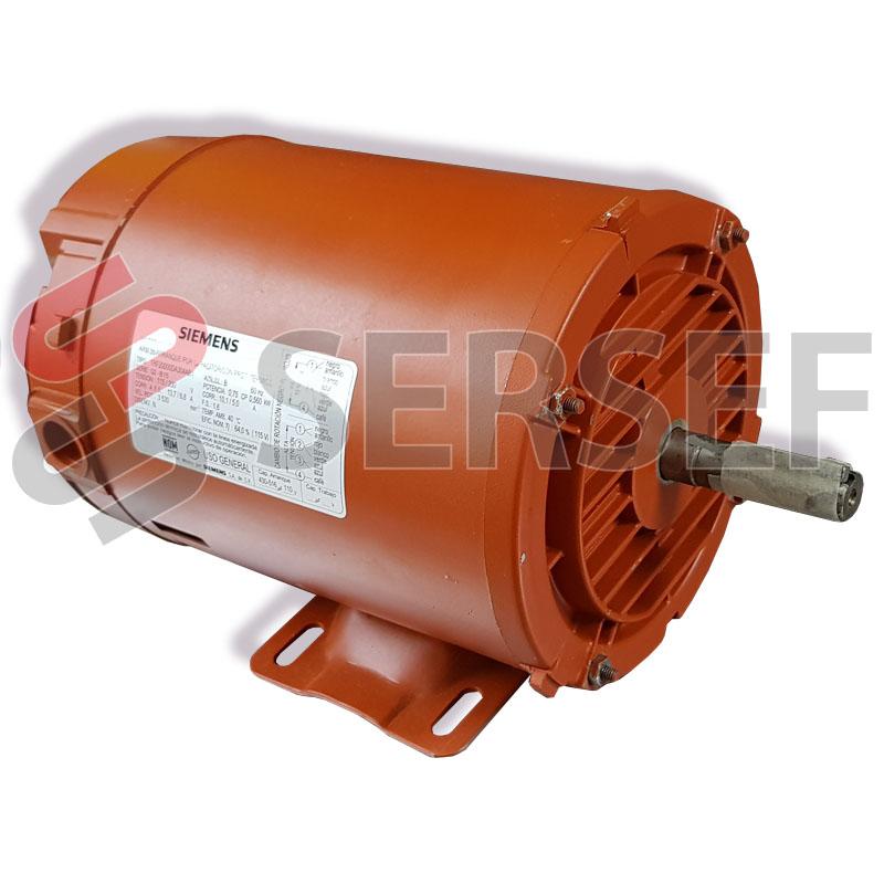 MOTOR MONOFASICO ARMAZON A56 0.75HP 2P  STD. 115-220V 60 HZ MARCA SIEMENS 1RF2000-0DA30-4