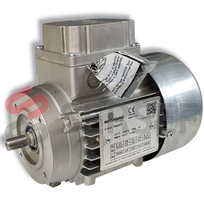 MOTOR TS63C4 IMB14 RPM=1330/1650 KW=0.22/0.26 V=230/400-265/460 HZ=50 MARCA MOTOVARIO